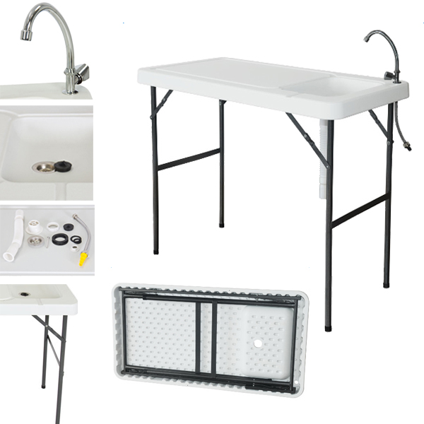 2017 folding portable fish table hunting cleaning cutting for Fish cleaning table with sink