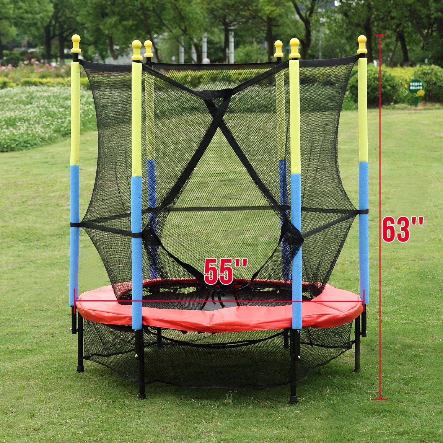 mini trampoline with enclosure 55 quot mini trampoline combo w enclosure net pad 7517