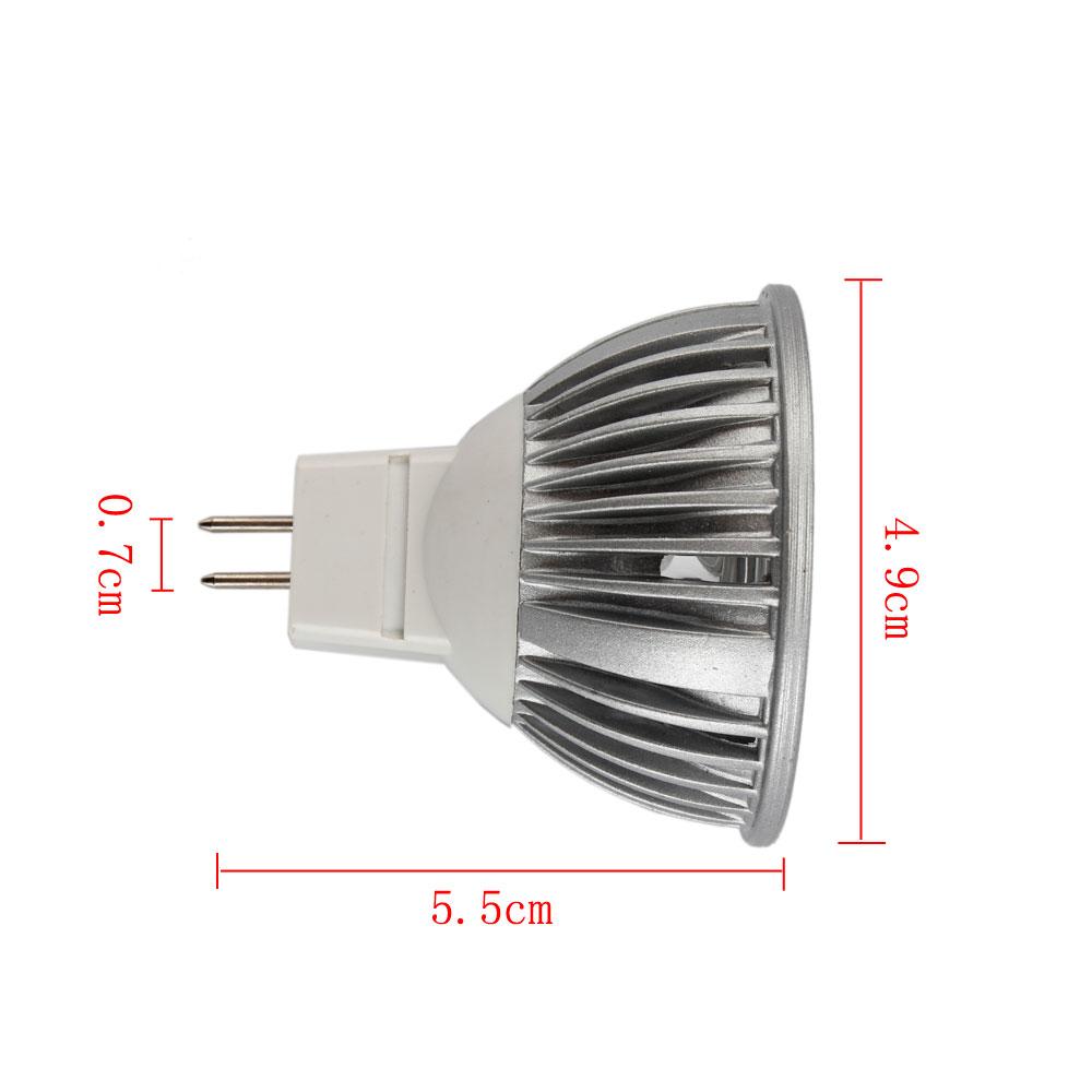 Hot Sale Lot10 3W 12V LED Light Bulb MR16 Pure White