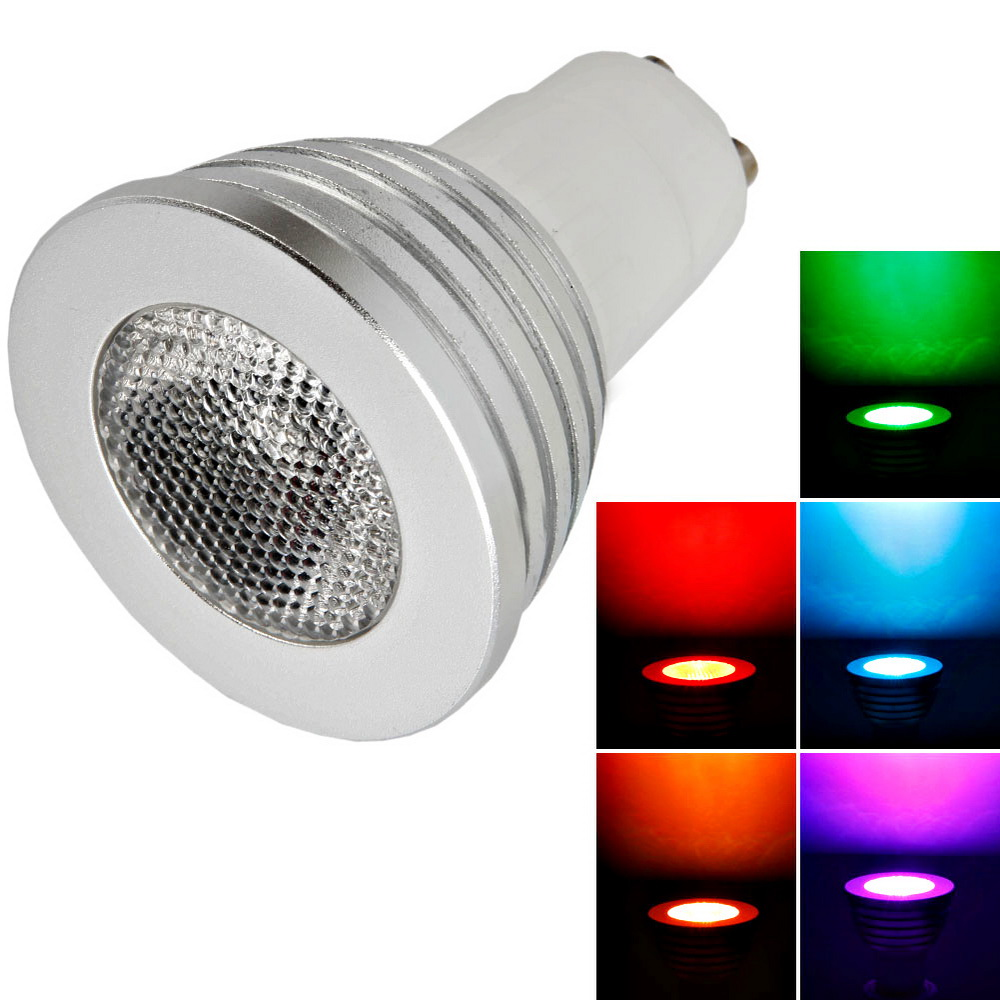 5pcs 5w ac85 265v gu10 led rgb color colorful light bulb lamp remote control ebay. Black Bedroom Furniture Sets. Home Design Ideas