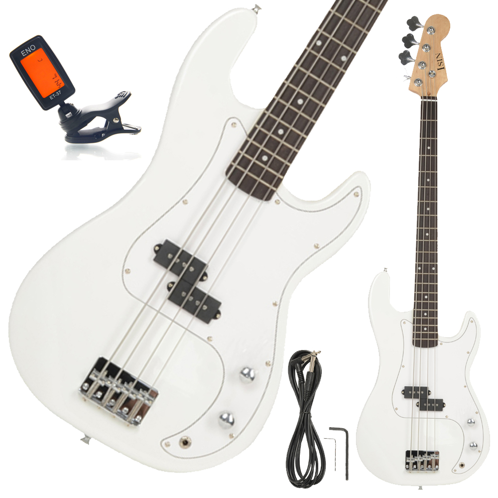 new beginner 4 string electric bass guitar white with. Black Bedroom Furniture Sets. Home Design Ideas