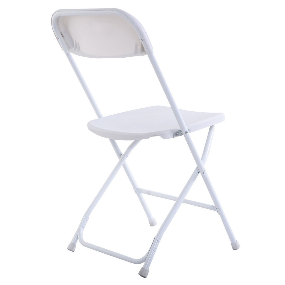 New 10pcs Commercial White Plastic Folding Chairs