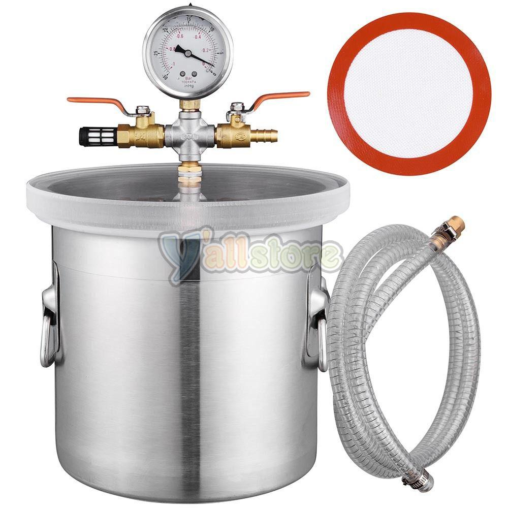 3 Gallon Vacuum Chamber + 3CFM Single Stage Pump HVAC to ...