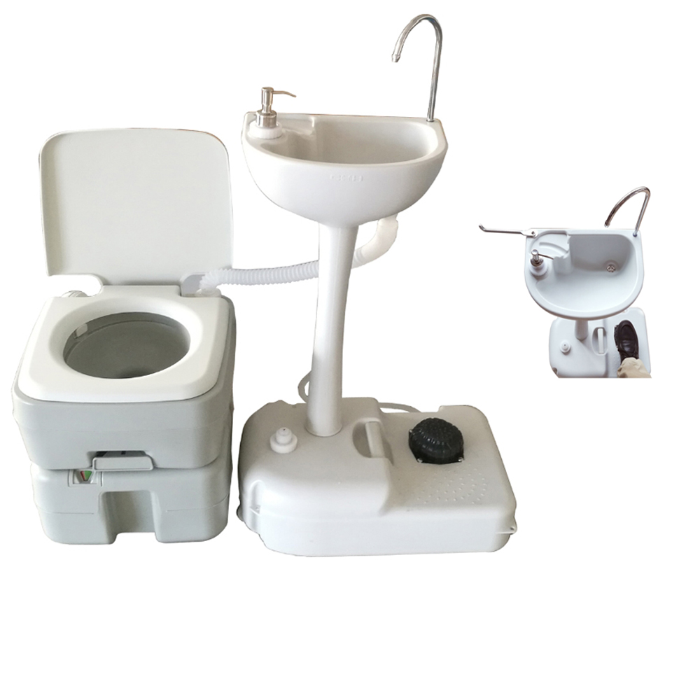 Outdoor Camping Hiking 20L Portable Toilet Flush Potty Commode with ...