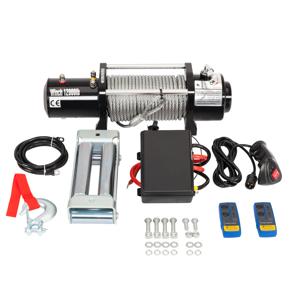 12000lbs 12v Electric Winch for Truck, Trailer SUV Wireless Remote ...