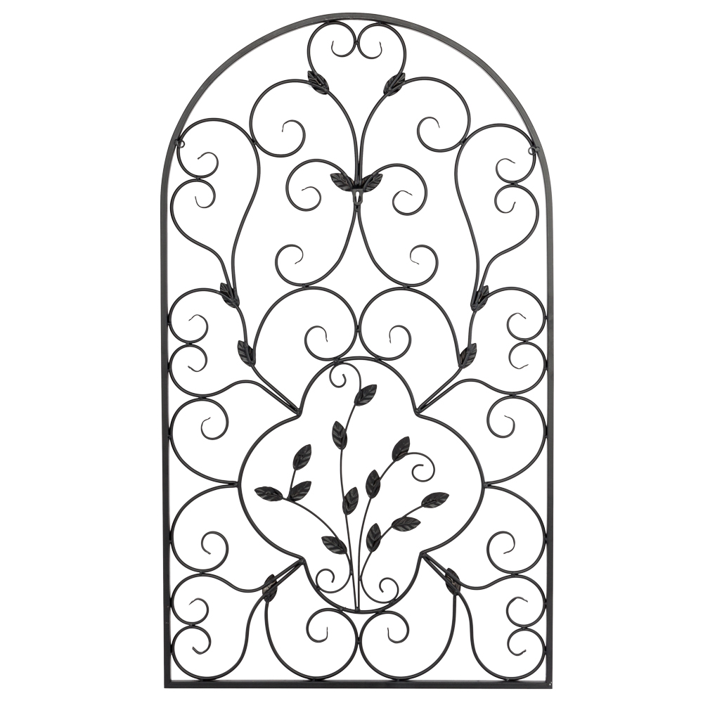 Arched Wrought Iron Wall Art Vintage Tuscan Indoor Outdoor ...