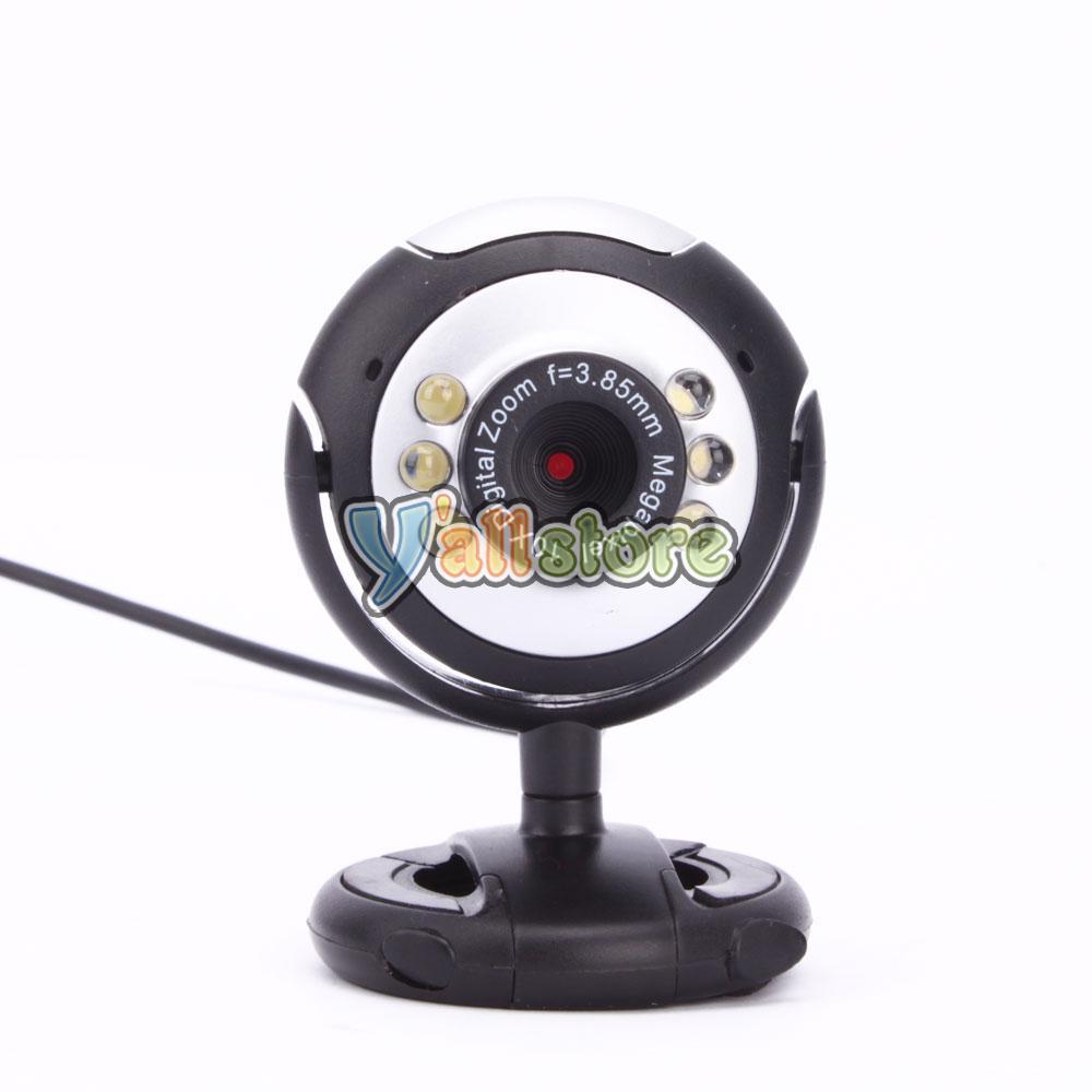 hd 12 0 mp 6 led usb webcam camera w mic night vision for desktop pc laptop ebay. Black Bedroom Furniture Sets. Home Design Ideas