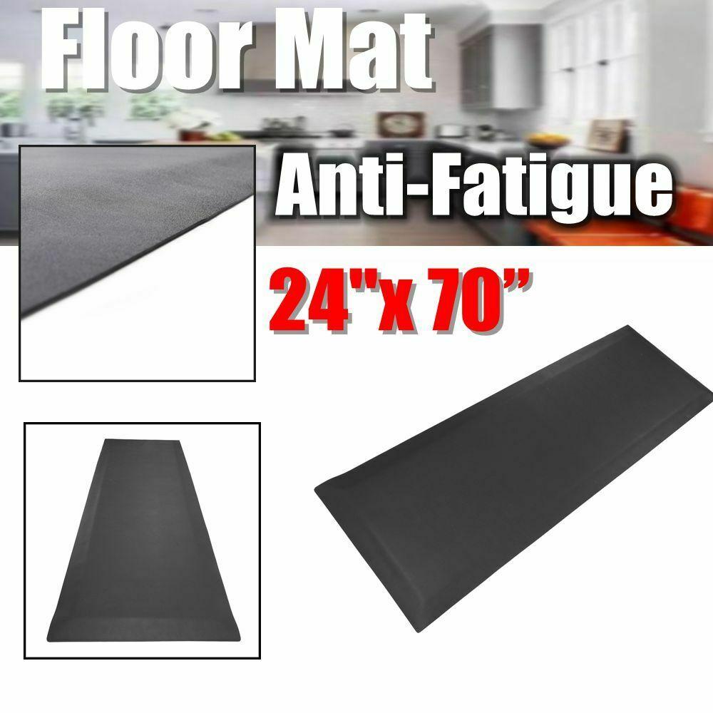 Details About 24 X 70 Anti Fatigue Floor Mat Foam Gel Kitchen Rug Office Standing Mat Black