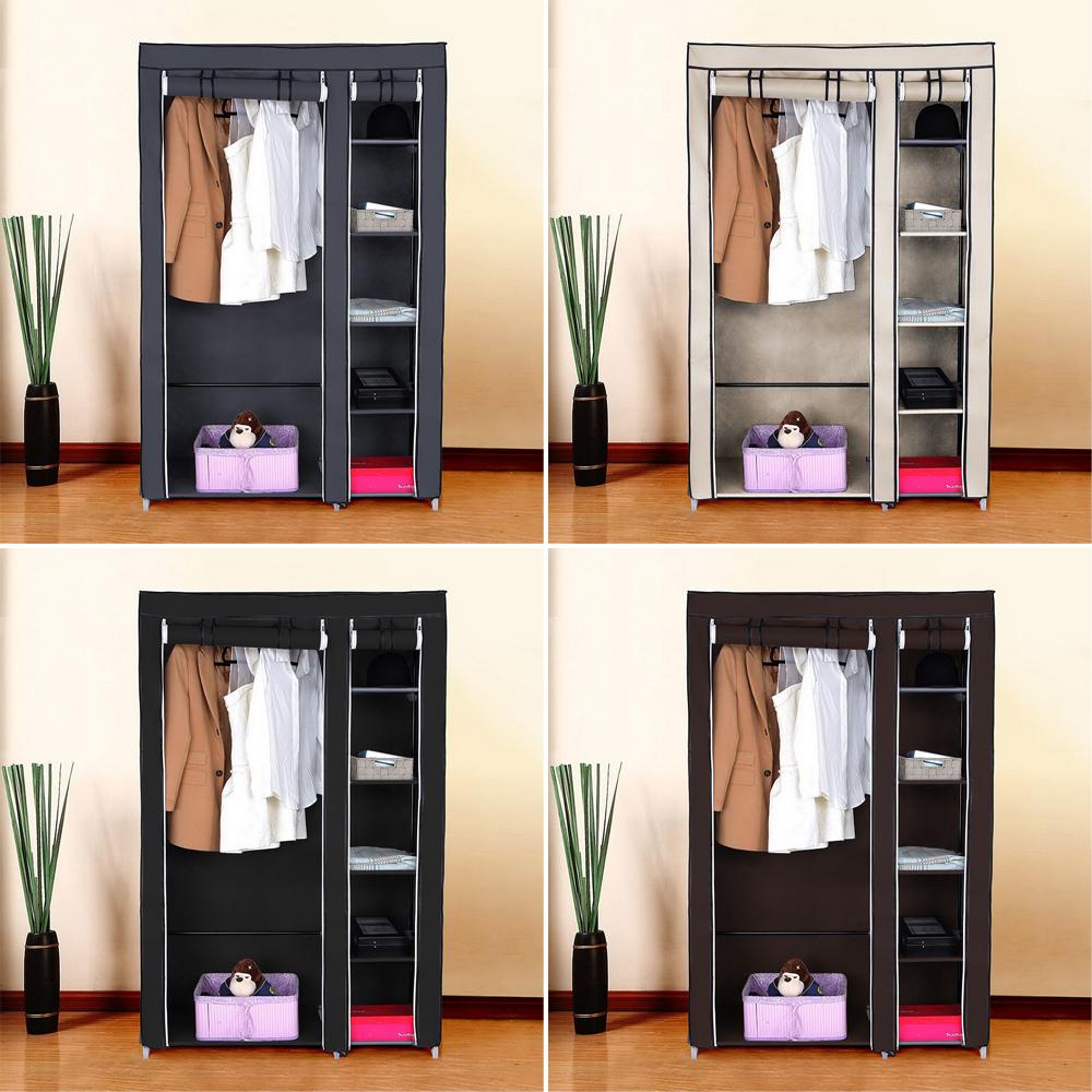Charmant Details About Heavy Duty Portable Closet Storage Organizer Clothes Wardrobe  Shoe Rack W/Shelf
