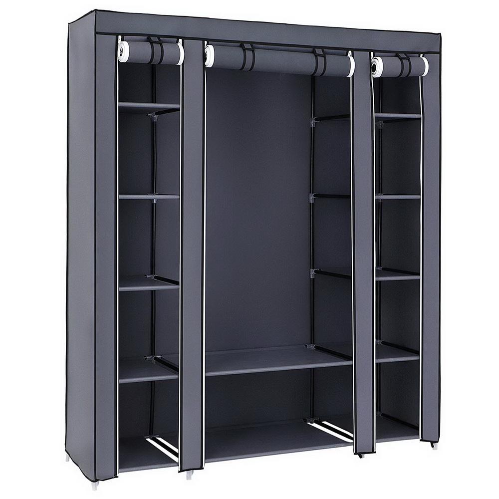 Details About New Design Portable Closet Wardrobe Clothes Rack Storage  Organizer Shelf Durable
