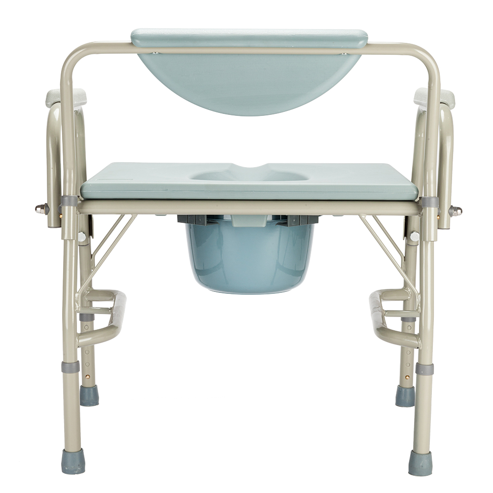 Medical Beside Commode Chair with Safety Steel Frame Adjustable ...