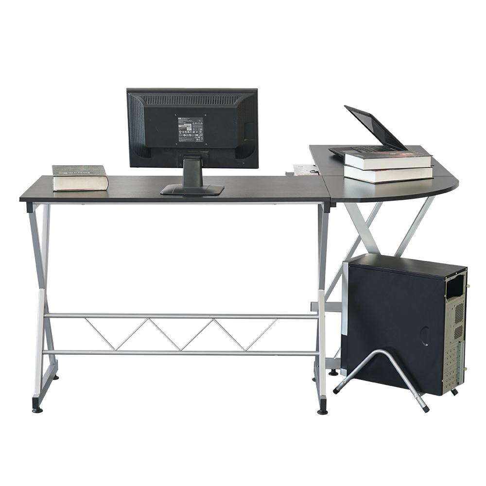 All Wood Office Desk: L-Shaped Corner Computer Desk Home Office Laptop Desk Wood