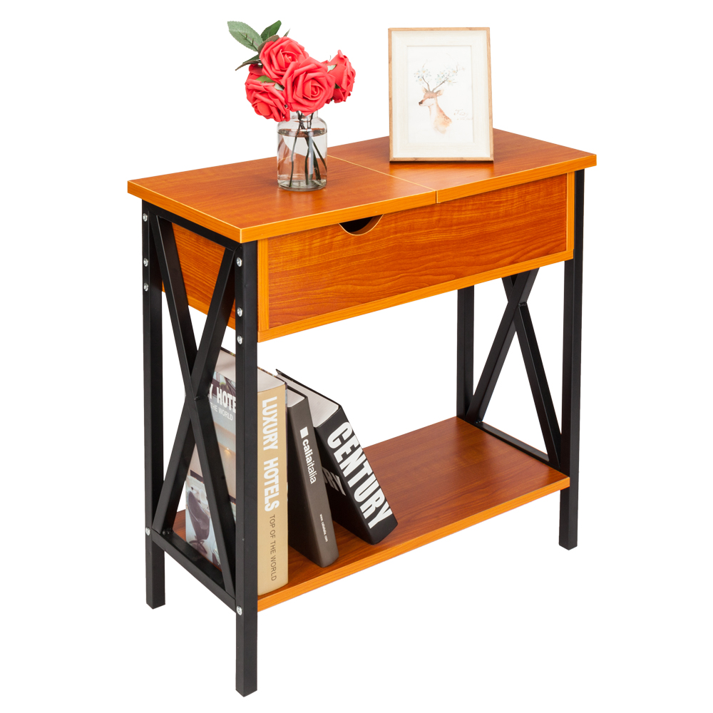Flip Top Table Accent Side Table Livingroom Sofa End Tables