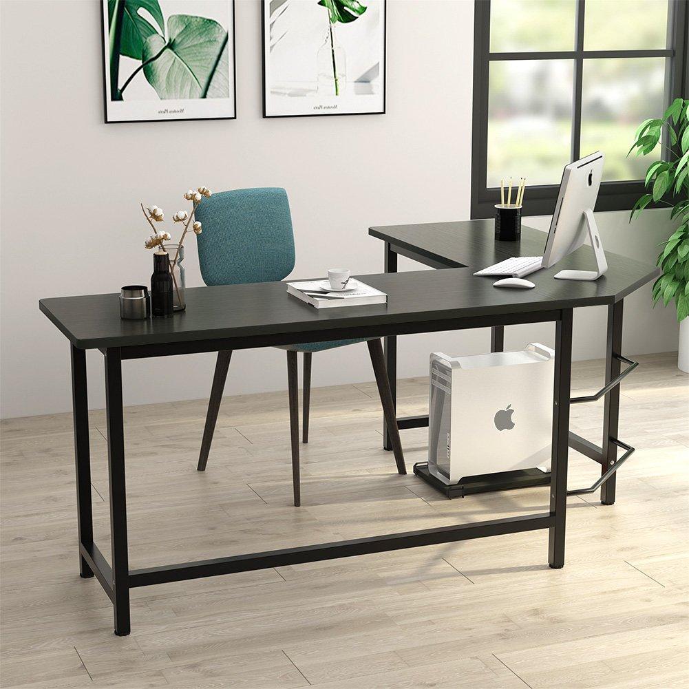 L Shaped Desk Corner Computer Desk Workstation Home Office