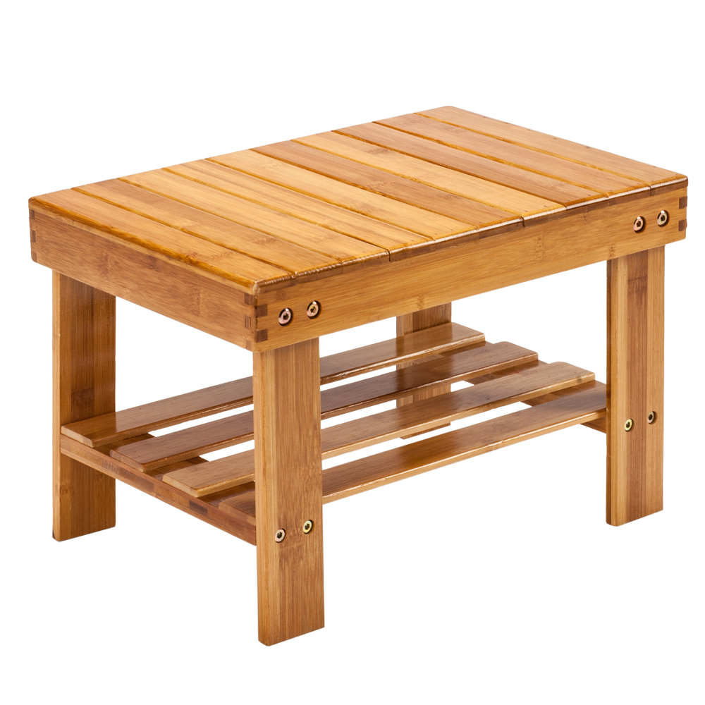 Swell Details About Bamboo Shower Bench Seat Bath Wood Steam Sauna Storage Chair Home Wood Color Us Ocoug Best Dining Table And Chair Ideas Images Ocougorg