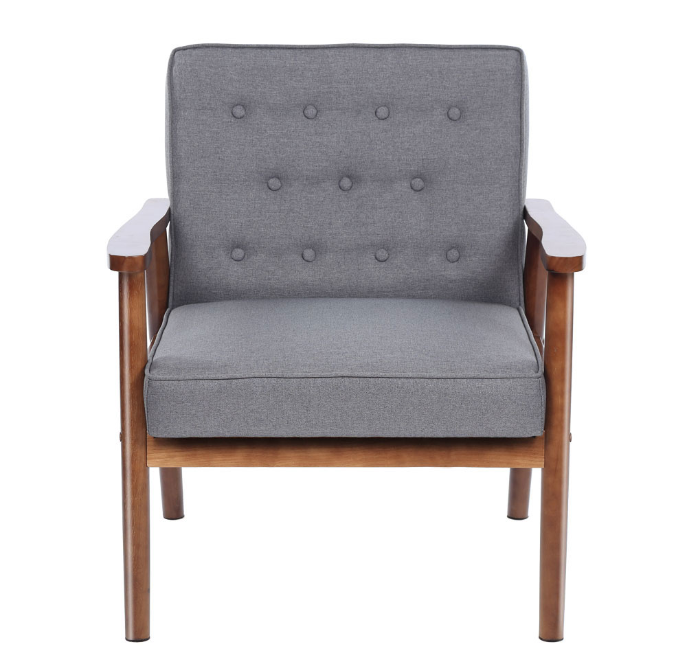 Fantastic Details About High Quality Modern Fabric Upholstered Wooden Lounge Chair Home Furniture Grey Inzonedesignstudio Interior Chair Design Inzonedesignstudiocom