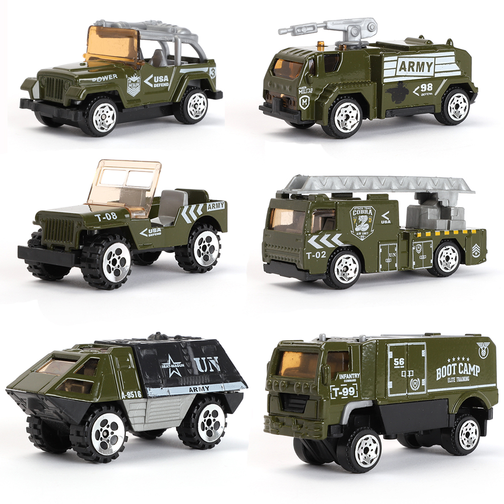 Used Military Vehicles >> Details About 6 Types Diecast Mini Alloy Military Vehicle Playset Cars Model Alloy Army Tank