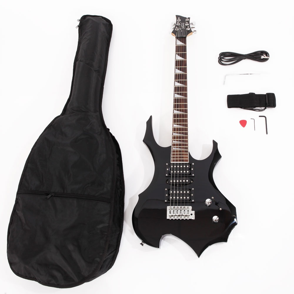 right handed basswood electric guitar set with amp for beginner ebay. Black Bedroom Furniture Sets. Home Design Ideas