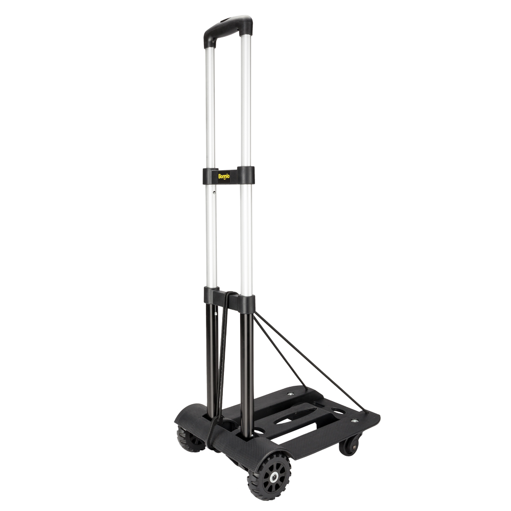 21beabd3d2a8 Details about Portable Folding Hand Cart Dolly Fold Up Luggage Truck Moving  Cart w/ 4 Wheels
