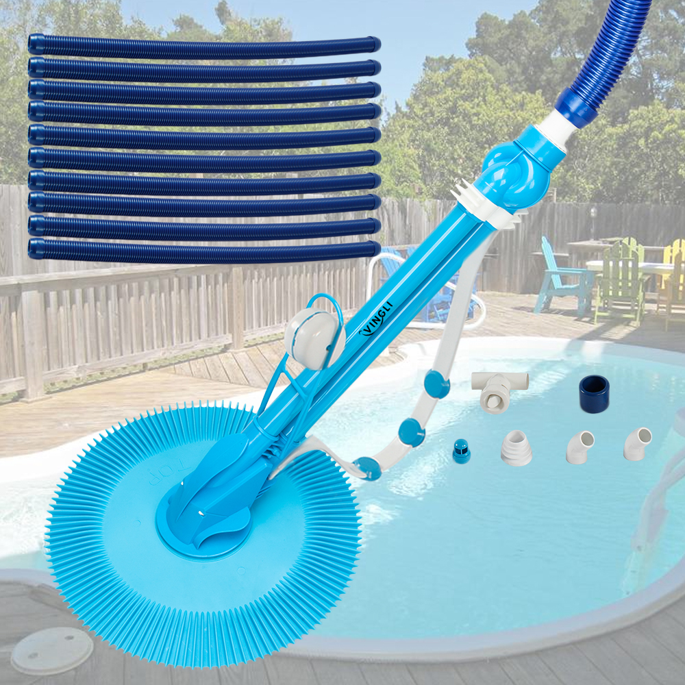 Auto Swimming Pool Cleaner Inground & Above Ground with 10pcs ...