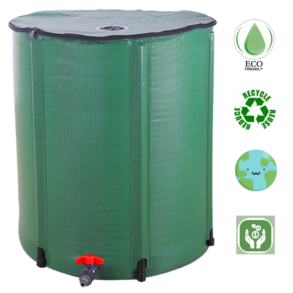100 Gallon Rain Barrel Folding Portable Water Collection