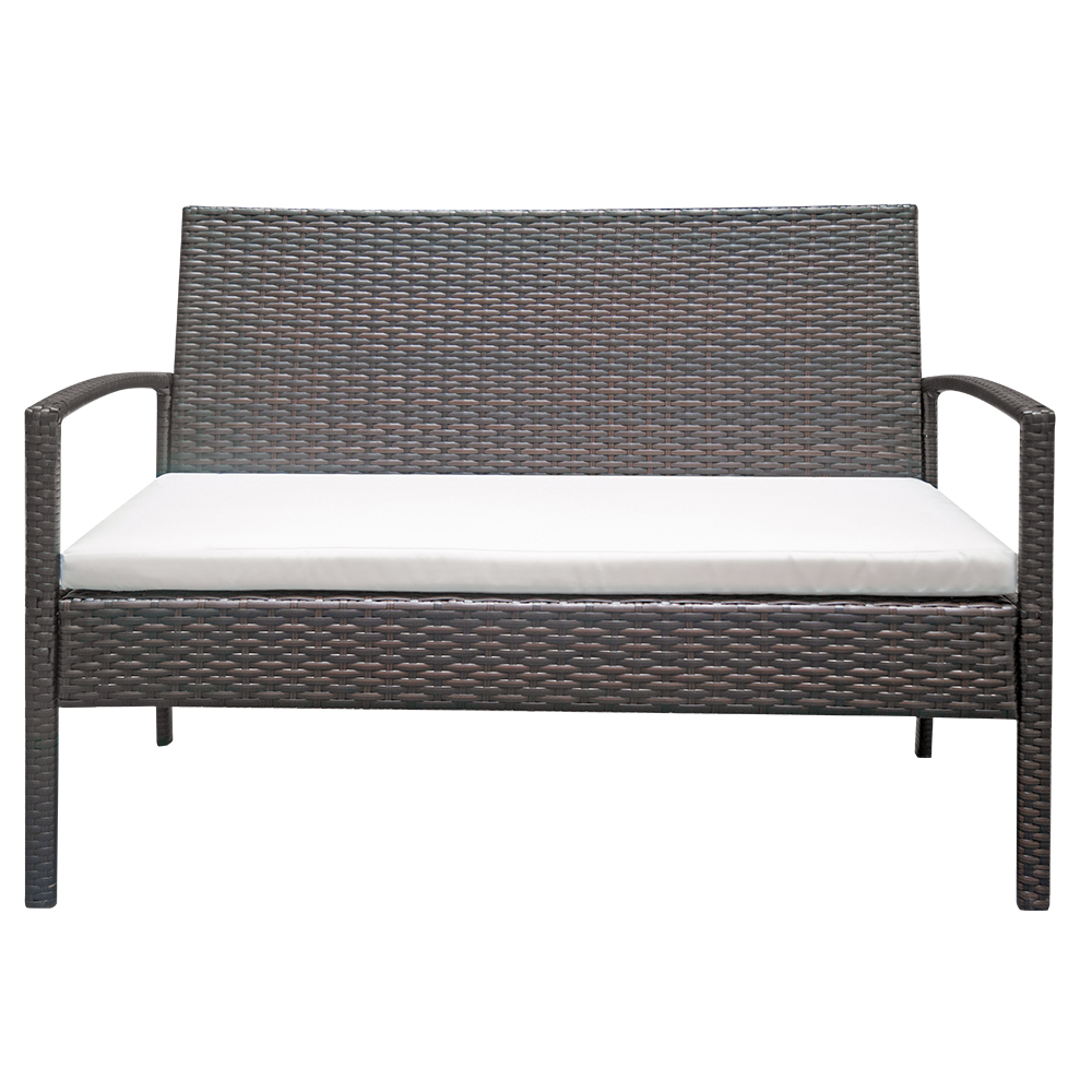Details About Patio Furniture Set 4 Pcs Outdoor Wicker Sofas Rattan Chair  Wicker /w Cushion