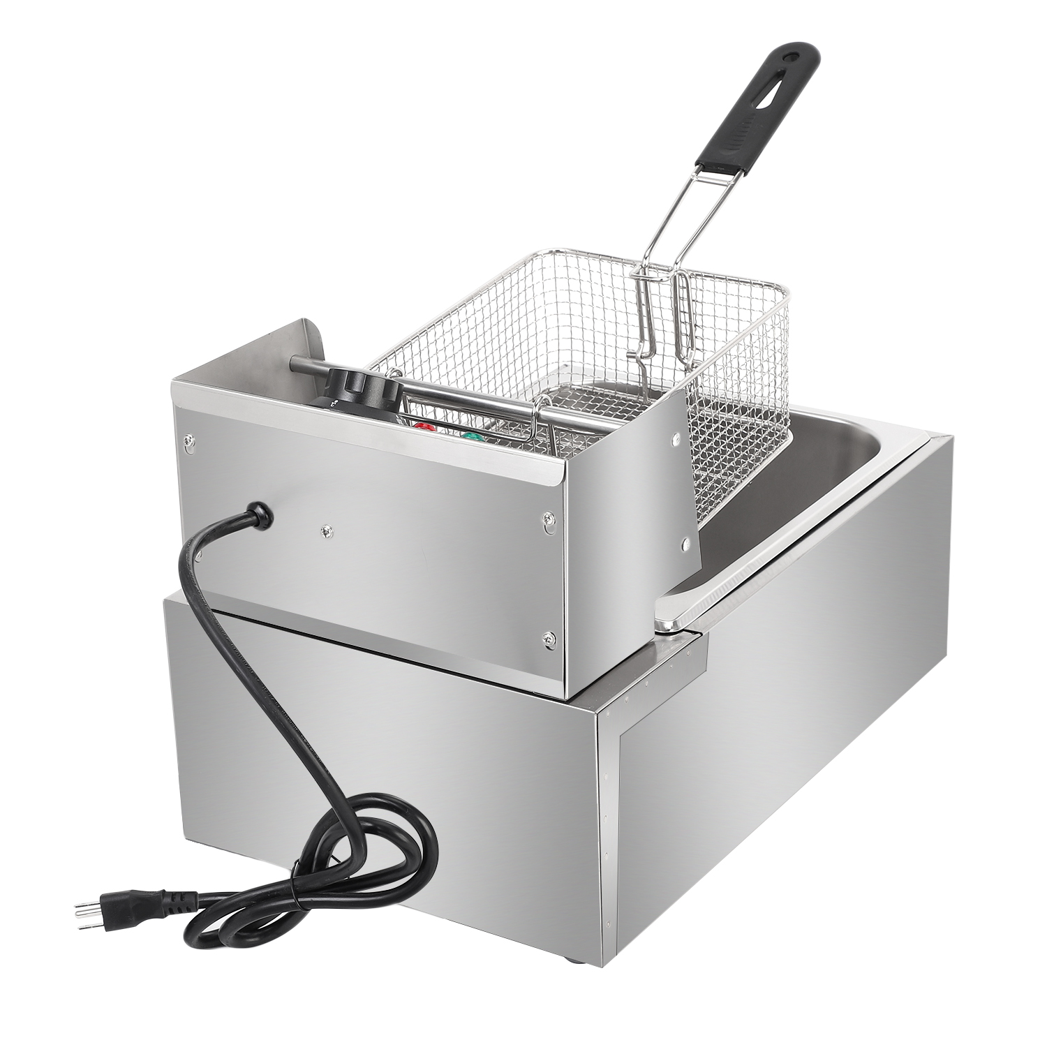 Details About 2500w 6l Electric Deep Fryer Commercial Countertop Basket French Fry Restaurant