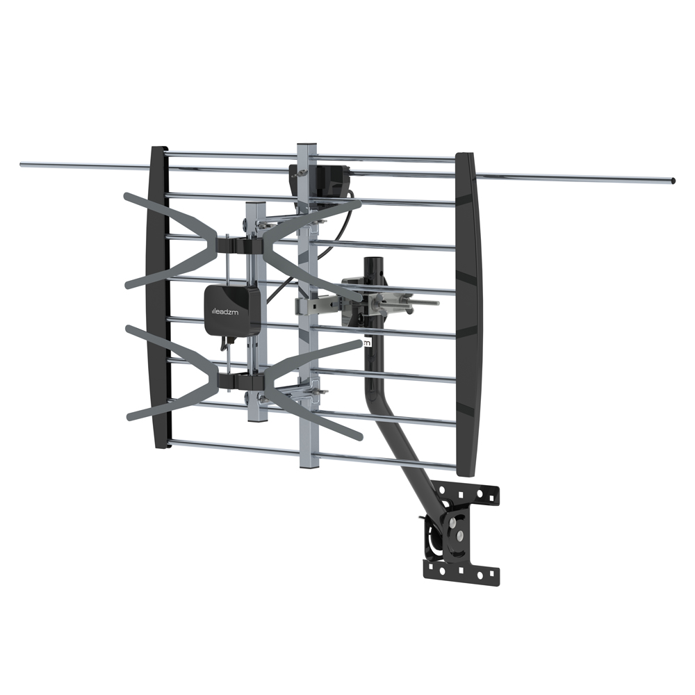 200 miles hdtv 1080p outdoor amplifier antenna uhf digital signals with pole
