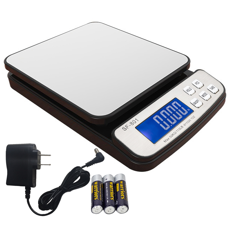 ed5f63c0bb41 Details about 110 LB x 0.1 OZ Digital Shipping Scale Postal Scale Backlit  LCD with AC Adapter
