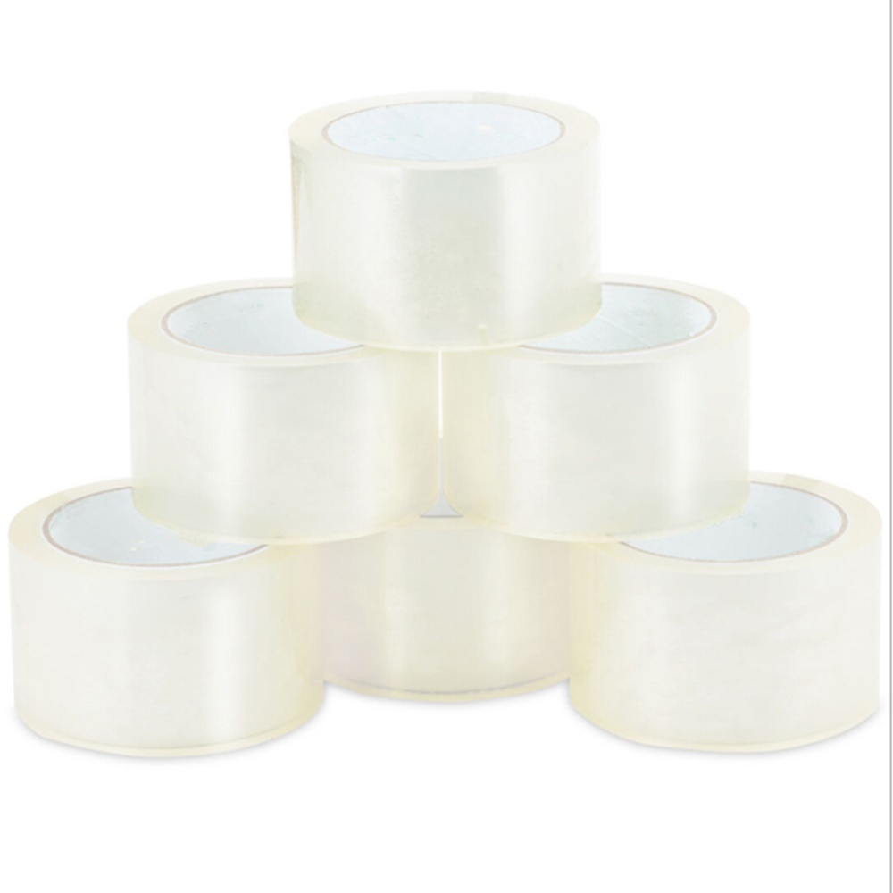 """330 ft Box Carton Sealing Packing Package Tape 18 Rolls CLEAR 2/"""" x 110 Yards"""