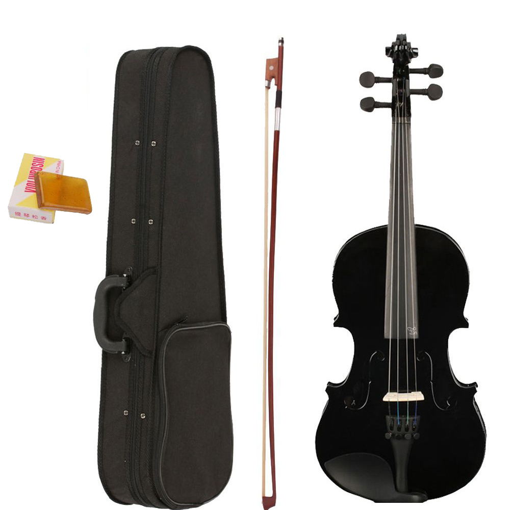 4/4 Full Size Black Color Student Acoustic Violin Fiddle