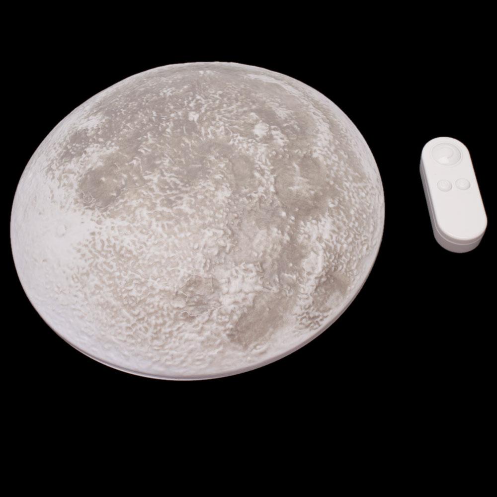 LED Wall Night Light Healing Moon Wall Lamp White Romantic ...