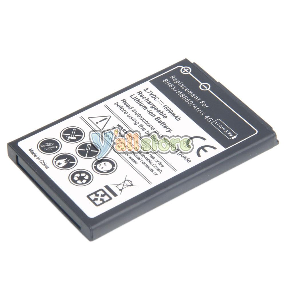 Motorola atrix charger ebay - Replacement 1800mah Bh6x Standard Battery For Motorola Atrix 4g Mb860 Us