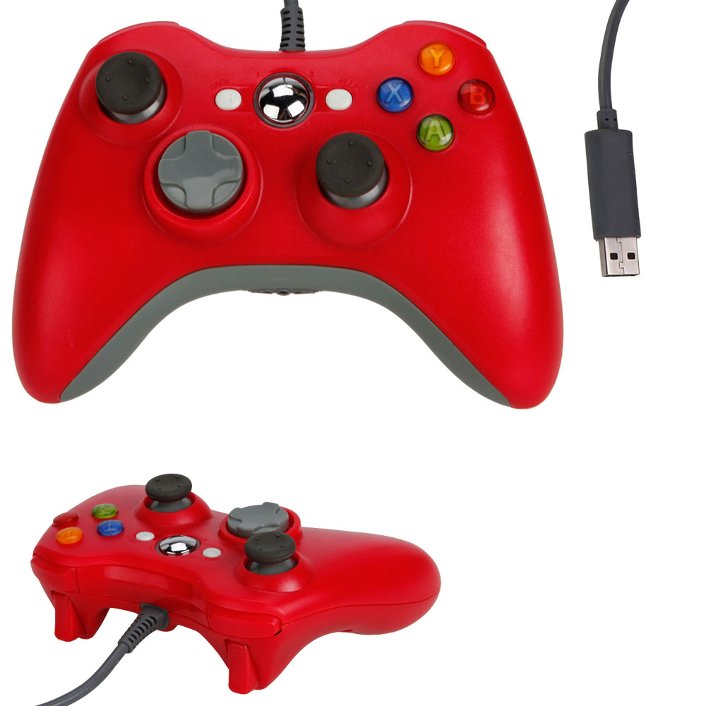 New red usb wired game pad controller for microsoft xbox for Xbox one hunting and fishing games