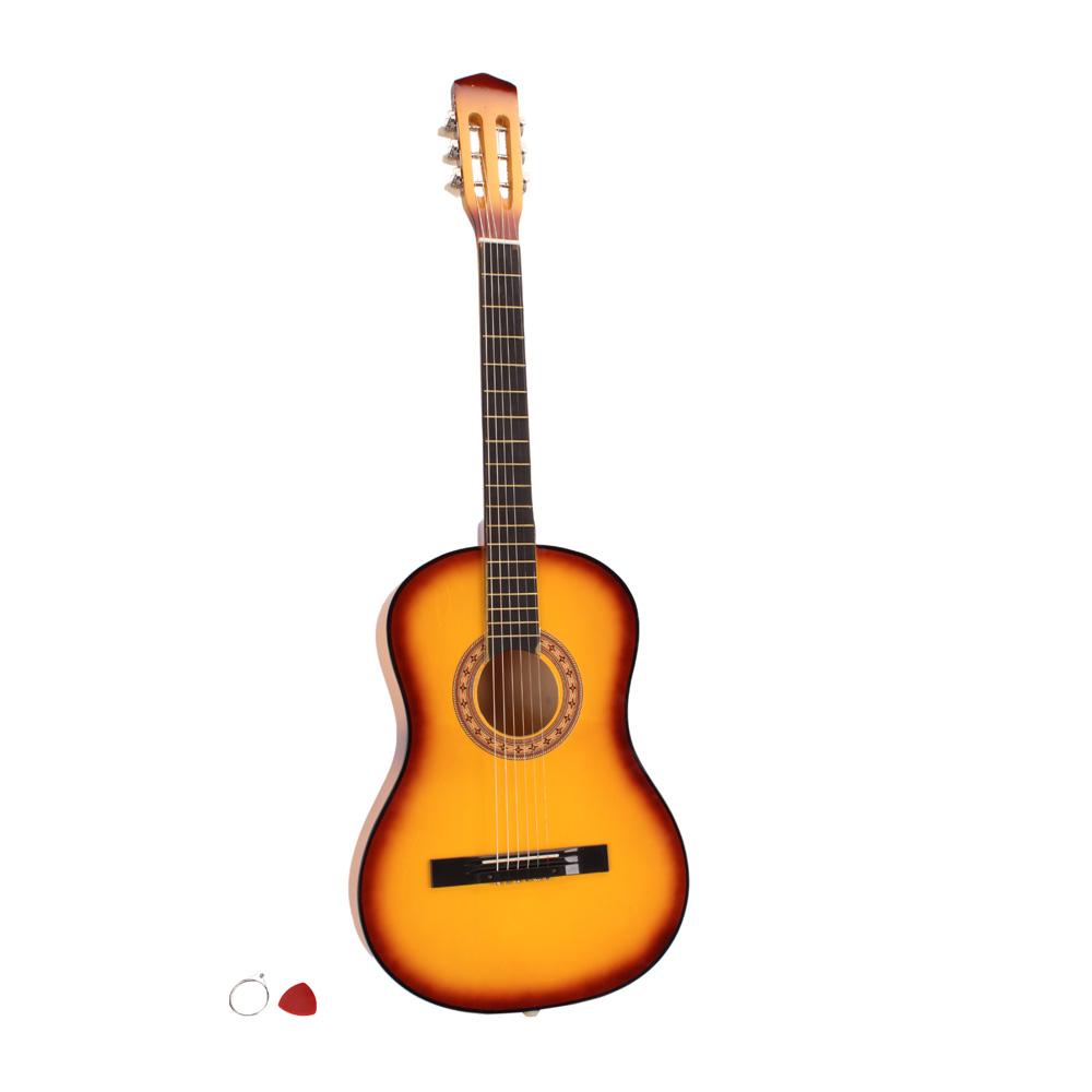 new 38 plywood 6 strings school student acoustic guitar for beginner 5 colors ebay. Black Bedroom Furniture Sets. Home Design Ideas