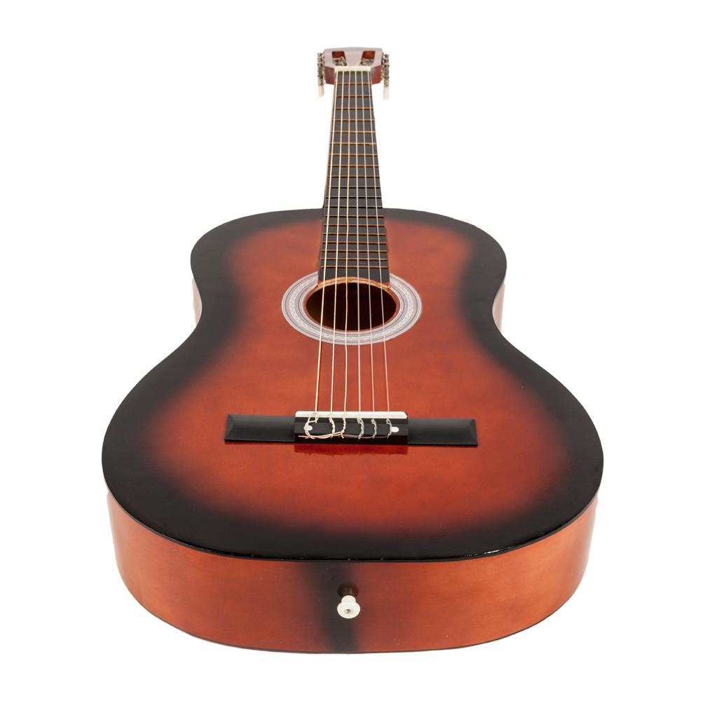 new 38 inch 19 frets plywood 6 strings acoustic guitar for beginner brown ebay. Black Bedroom Furniture Sets. Home Design Ideas