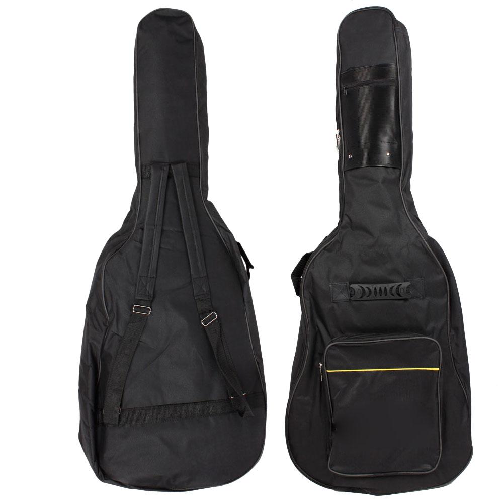 new back soft guitar gig bag case big fit padded straps for 39 acoustic guitar ebay. Black Bedroom Furniture Sets. Home Design Ideas