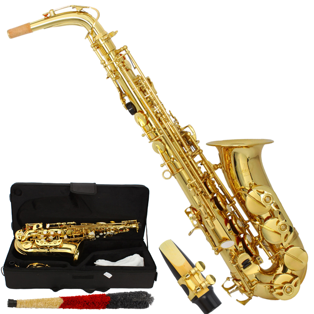 Best Time To Buy Used Car: MBAT Professional Alto Eb Saxophone Sax Gold W/ Case