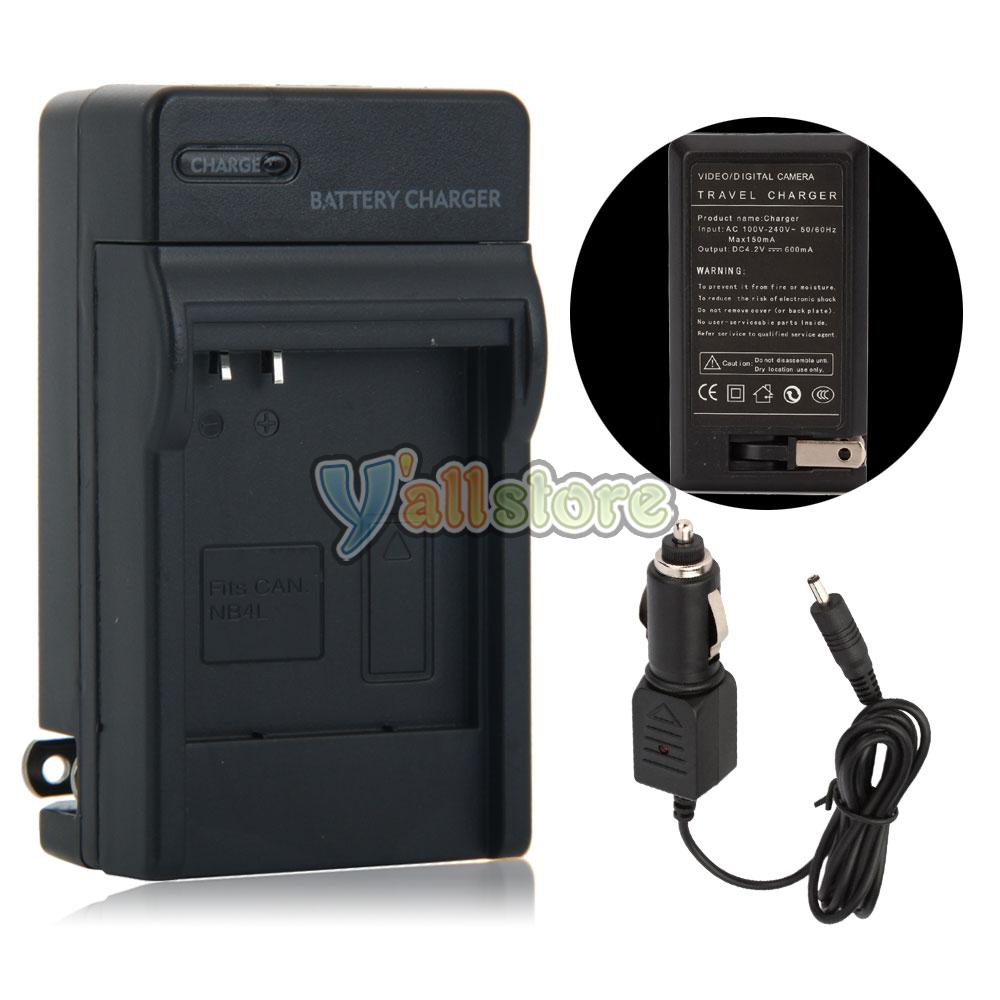 Nb 4l Battery Charger For Canon Powershot Sd450 Sd600