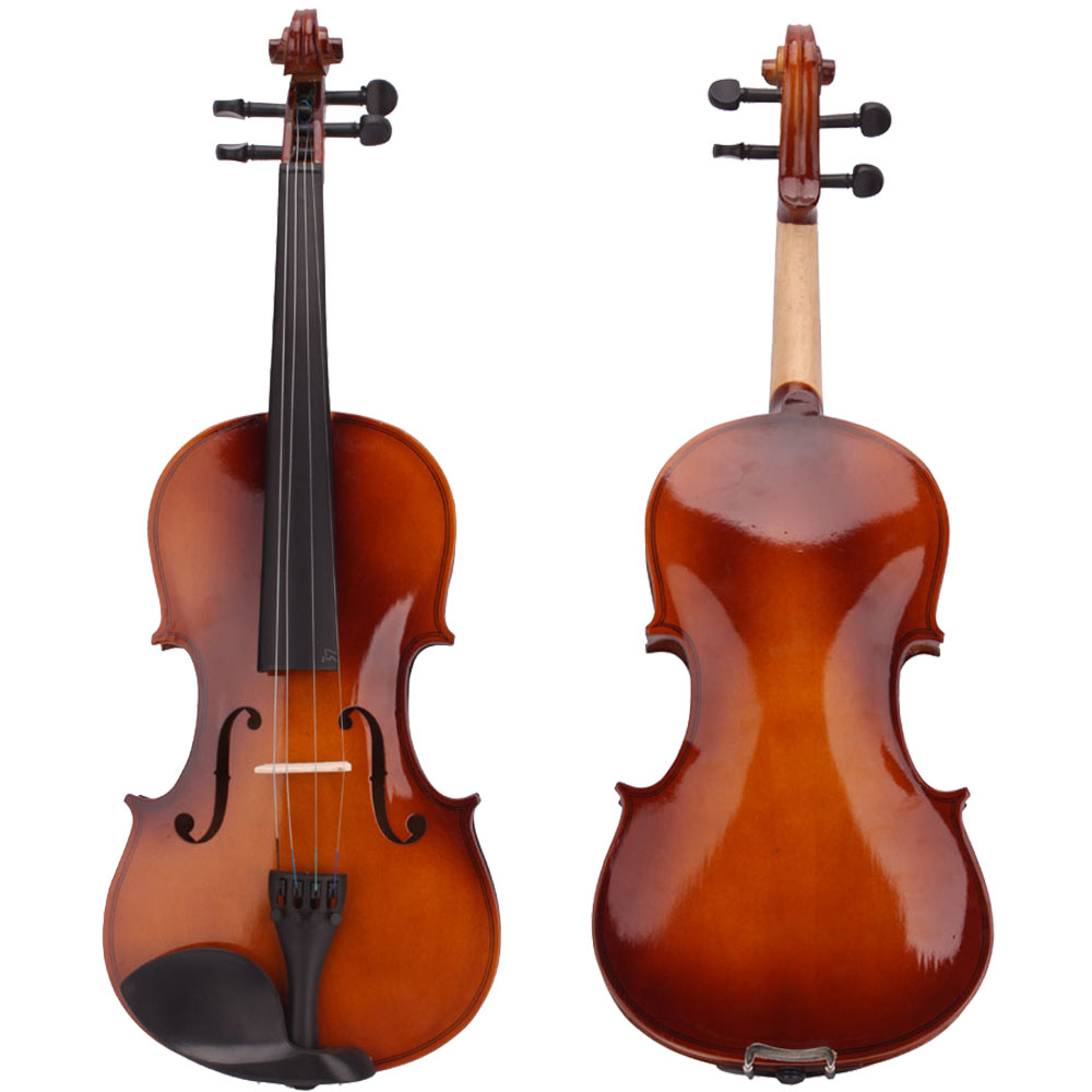 New Acoustic Violin 4 4 Full Size With Case And Bow Rosin Wood 675500499267 Ebay