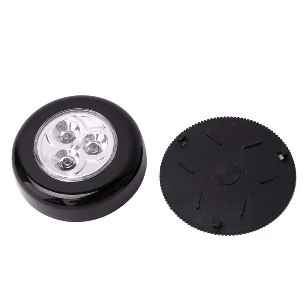 6 X Mini Cordless 3 Led Touch Light Batteries Powered