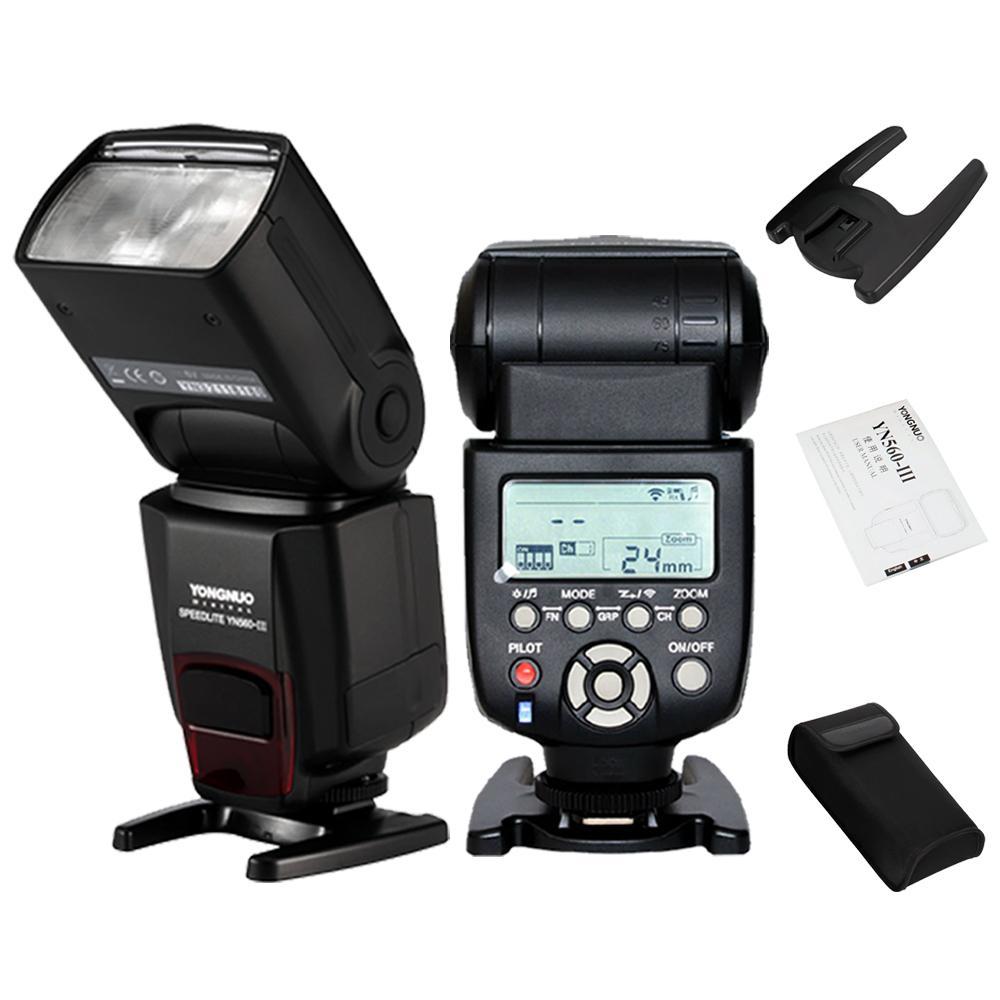 Ledgo 126 Led Microphone Mounted Ring Light For Dslr Video: Yongnuo YN560 III Wireless Speedlite Flash For Canon Nikon