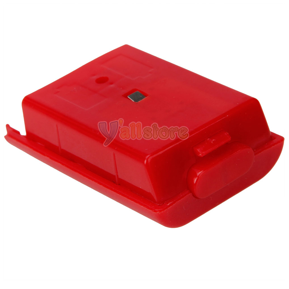 red battery pack cover case shell for xbox 360 xbox360 game controller ebay. Black Bedroom Furniture Sets. Home Design Ideas